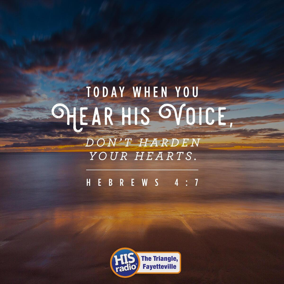Hebrews 4:7 - Verse of the Day
