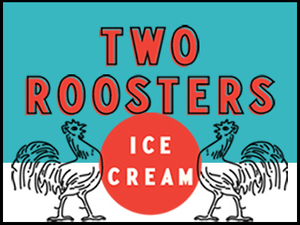 Two Roosters Ice Cream Logo